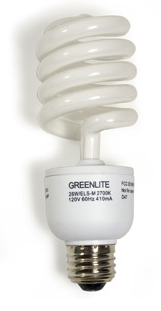 CFLs are an environmental blessing. Except for that nasty mercury poisoning thing.