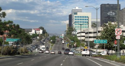 Driving Miles West Hollywood To Santa Monica Beach