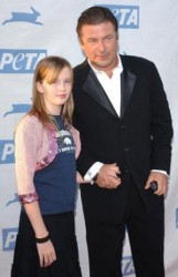 Father of the Year Alec Baldwin with his verbally-abused daughter Ireland