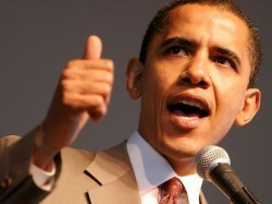 Barack Obama congratulates IHateTheMedia.com. Come on Mr. President, where\&#039;s that other thumb?