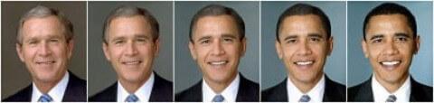 bush obama morph