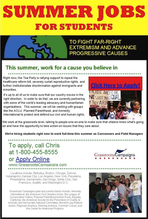 craigslist socialist summer jobs for students