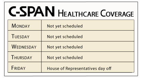 cspan Obmacare healthcare coverage schedule