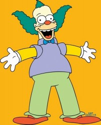 Clarification: This is Krusty the Clown. The one of Meet the Press was Christi the Clown