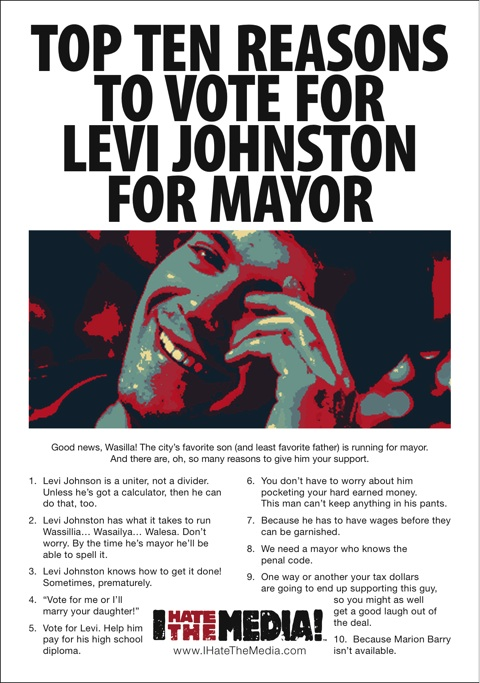 Levi Johnston Wasilla Newspaper Ad