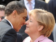 "And then Obama fantasized that Angela Merkel said, ""Hey, big boy, lose the linebacker chick and meet me in my room."""