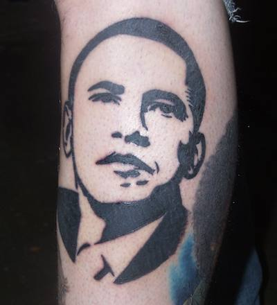 """How can I remove this filthy Obama tattoo?"""""""