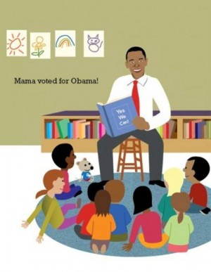 Post image for Mama Voted For Obama: New children's book elevates indoctrination into Cult of Dear Leader
