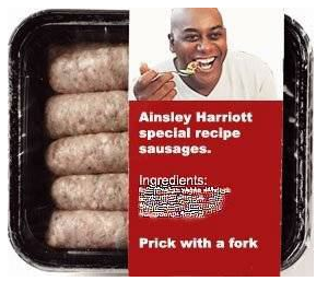 Prick with fork sausage ad