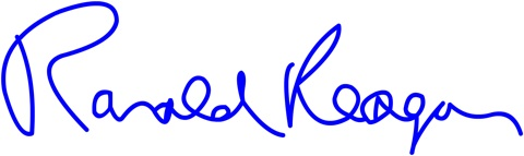 Ronald Reagan Signature
