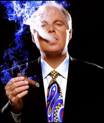 When it comes to ratings, Rush Limbaugh is not blowing smoke.