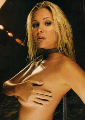 Whorish and hypocriticalish Shanna Moakler demonstrating the 'racy' pose for ...