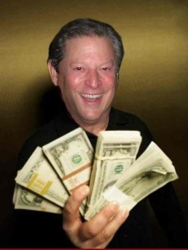 Al Gore has money to burn, but that would contribute to global warming