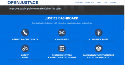 State of California Department of Justice   OpenJustice