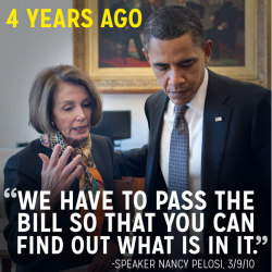 You have to pass it Pelosi