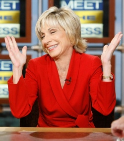 Andrea Mitchell feeling gay!