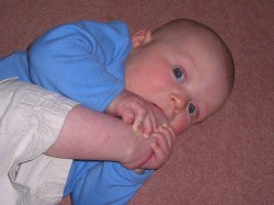 Rare photo of Joe Biden as an infant, already exhibiting the trait for which he would later become famous.