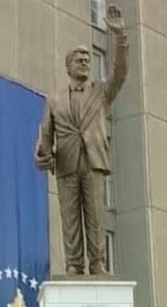 bill clinton donation statue