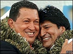 Hugo Chavez and Evo Morales