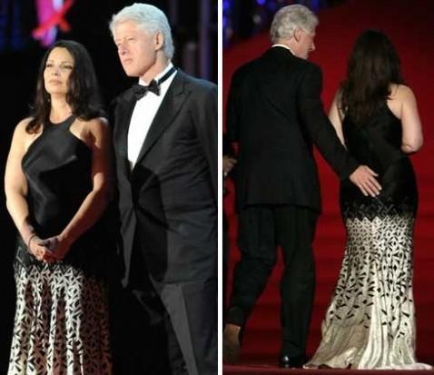 Bill Clinton and Fran Drescher