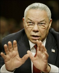 Have you ever noticed that Colin Powell never smiles? Or that Republicans never smile when they discuss Colin Powell?
