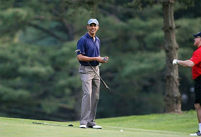 obama golf during gulf spill
