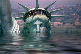 Give us your poor, your tired, your huddled masses, yearning to...glug...glug