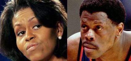 Michelle Obama Patrick Ewing