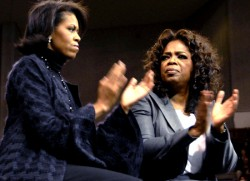 The Most Glamorous First Lady In History gives Oprah Winfrey the evil eye