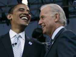 Everybody laughs at Vice President Joe Biden