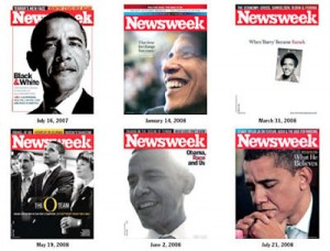 obama newsweek covers