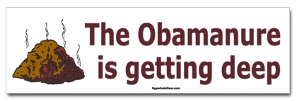 The Obamanure is getting deep  shirts, stickers, mugs and other merchandise